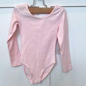 NWT Danskin Long Sleeve Pink Leotard • Size XS